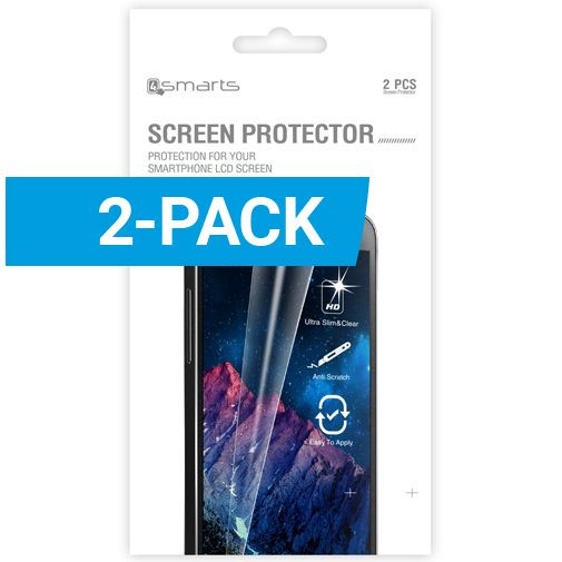 Productafbeelding van de 4smarts Clear Screenprotector Samsung Galaxy S5/S5 Plus/S5 Neo 2-Pack