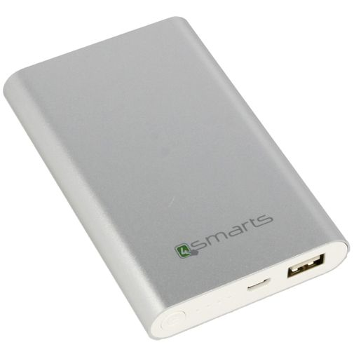 4smarts Essential Powerbank 7200 mAh Silver