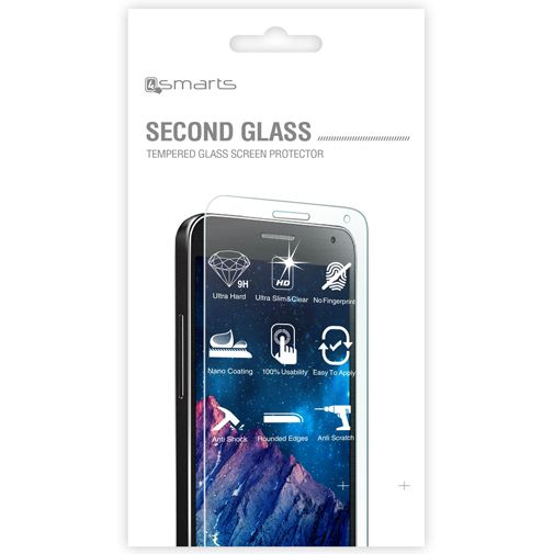 4smarts Second Glass Screenprotector Samsung Galaxy Note 4