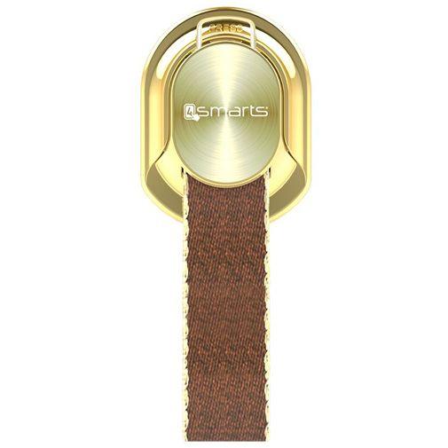 Productafbeelding van de 4smarts Finger Strap Gold/Cognac