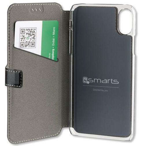 4smarts Flip Case Supremo Black Apple iPhone X/XS