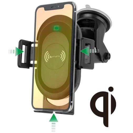 4smarts VoltBeam Sensor Draadloze Snellader Autohouder 7.5W/10W
