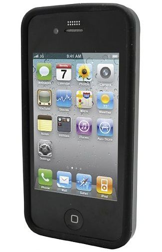 Adapt Silicon Case Black Apple iPhone 4