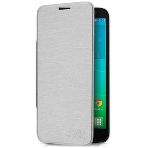 Alcatel Flip Case Silver OneTouch Idol 2 Mini S