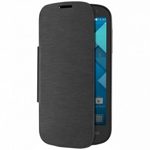 Alcatel One Touch Pop C5 Flip Cover Grey