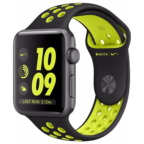 Apple Watch Series 2 Nike+ 38mm Grey Aluminium (Black Volt Strap)