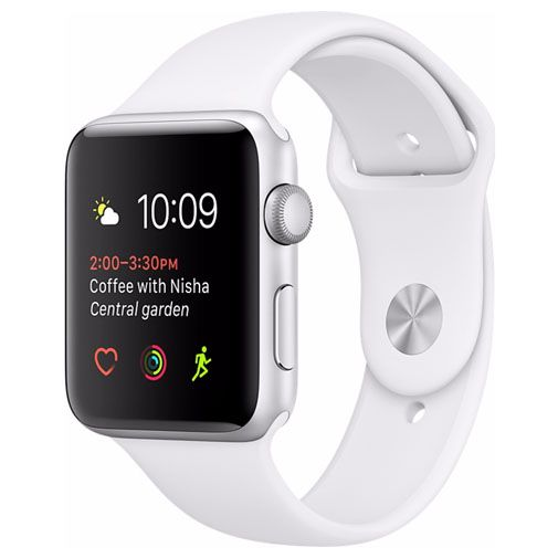 Productafbeelding van de Apple Watch Series 2 Sport 38mm Silver Aluminium (White Strap)