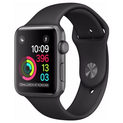 Productafbeelding van de Apple Watch Series 2 Sport 42mm Grey Aluminium (Black Strap)