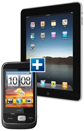 Apple iPad 32GB Wi-Fi & 3G + HTC Smart