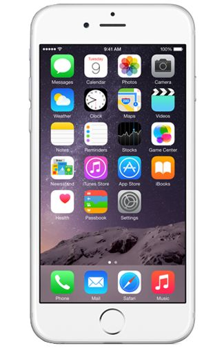 Productafbeelding van de Apple iPhone 6 16GB Silver Refurbished
