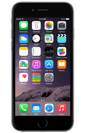 Productafbeelding van de Apple iPhone 6 64GB Black Refurbished