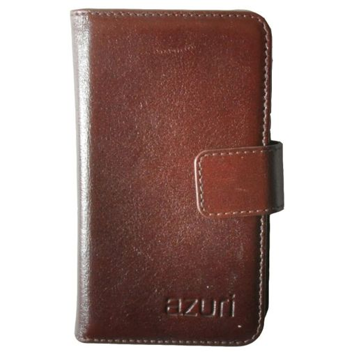 Azuri Wallet Case Brown 01