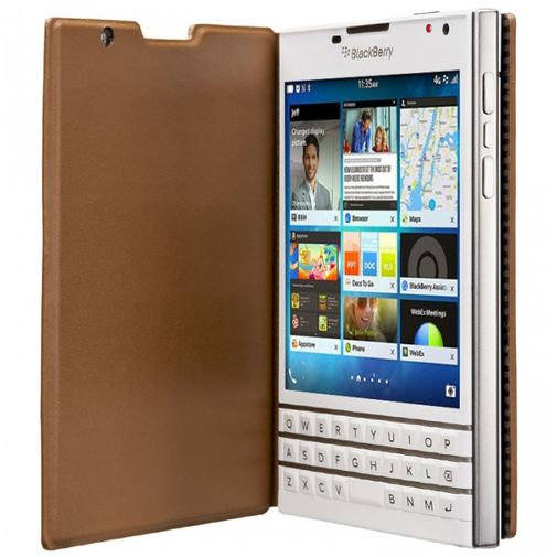 BlackBerry Leather Flip Case Brown Passport