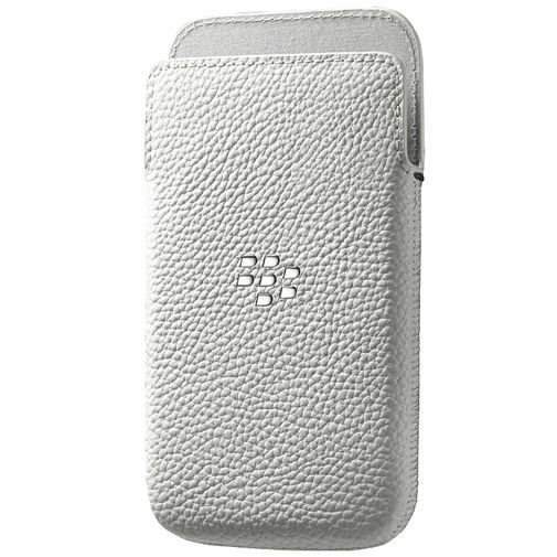 BlackBerry Leather Pocket White BlackBerry Classic