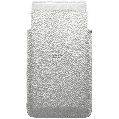 BlackBerry Leather Pocket White Leap