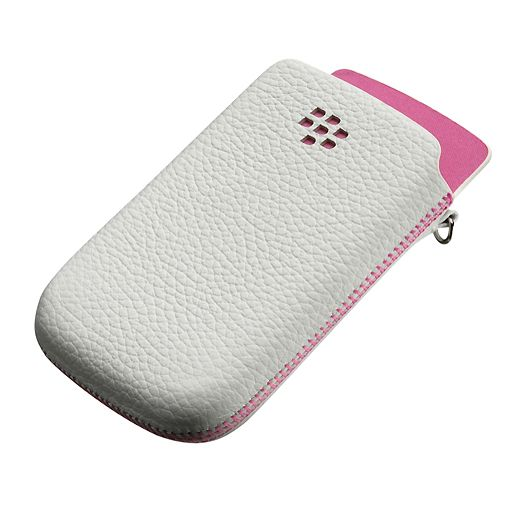 BlackBerry Leather Pocket White Pink Torch 9800/9810