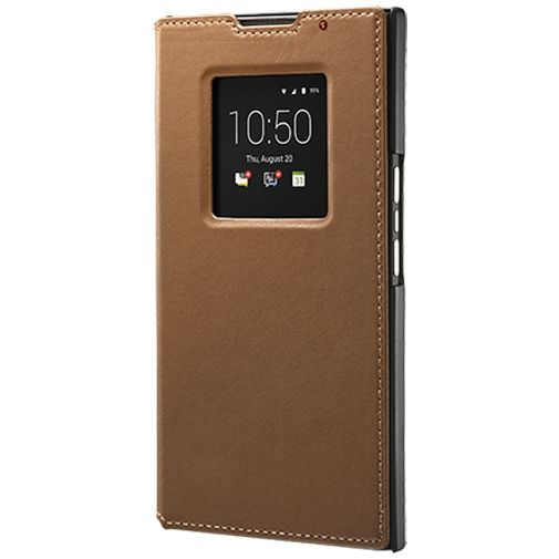 BlackBerry Leather Smart Flip Case Tan BlackBerry Priv