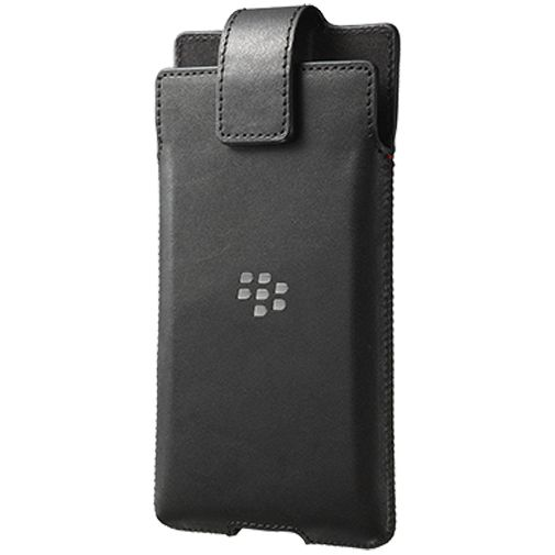 Productafbeelding van de BlackBerry Leather Swivel Holster Black BlackBerry Priv