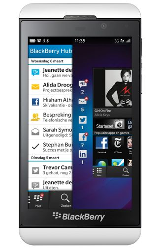 Productafbeelding van de BlackBerry Z10 Pure White