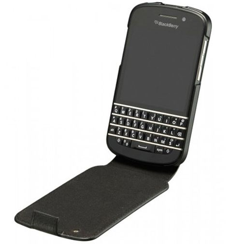 Blackberry Leather Flip Shell Q10 Black