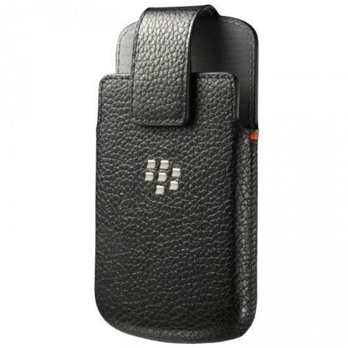 Blackberry Q10 Leather Holster Black