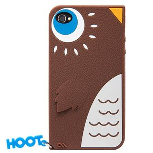Case Mate Apple iPhone 4 Creatures Hoot Brown