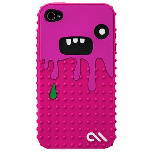 Productafbeelding van de Case Mate Apple iPhone 4 Creatures Monsta Pink