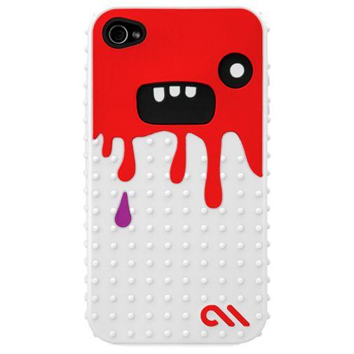 Productafbeelding van de Case Mate Apple iPhone 4 Creatures Monsta Red