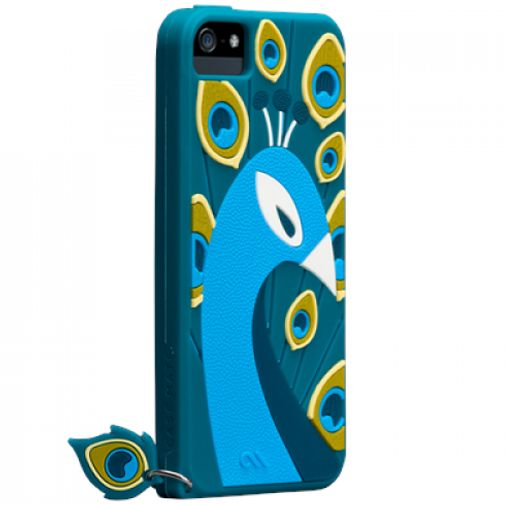 Productafbeelding van de Case-Mate Creatures Peacock Apple iPhone 5/5S Blue