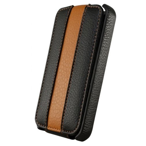 Productafbeelding van de Dolce Vita Flip Case Black Orange Apple iPhone 4/4s