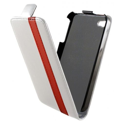 Dolce Vita Flip Case White Red Apple iPhone 4/4s