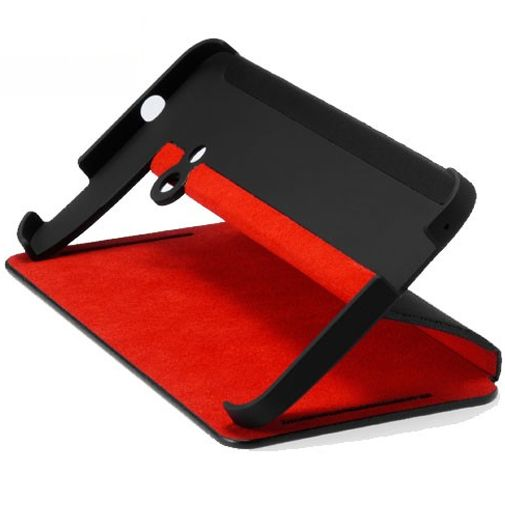 HTC One Flip Case Black/Red