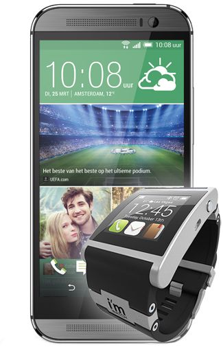 HTC One M8 Grey + I'm Watch