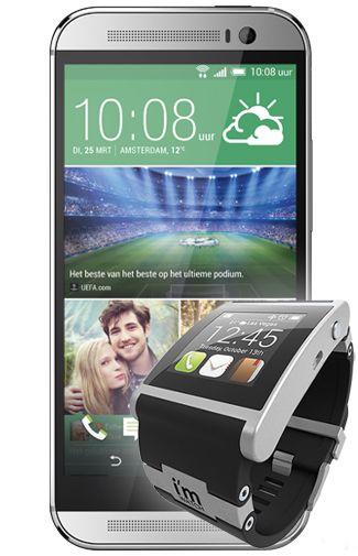 HTC One M8 Silver + I'm Watch