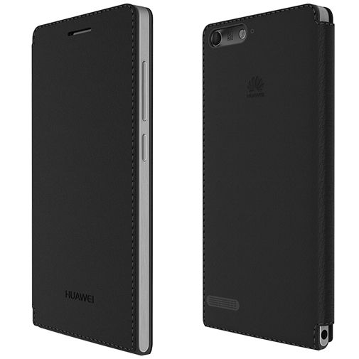 Huawei Ascend G6 4G Flip Case Black