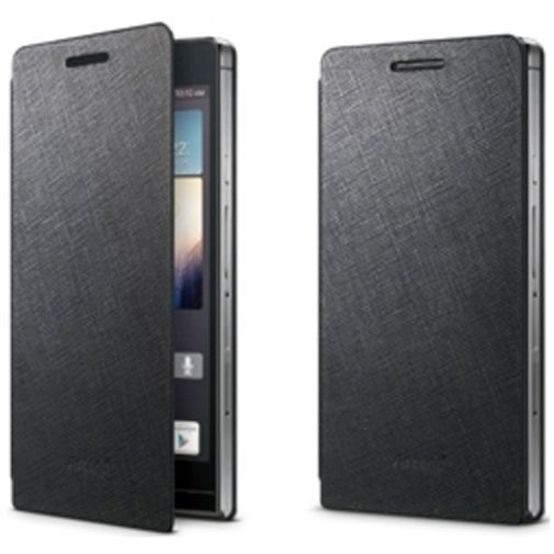 Huawei Edge Leather Flip Case Ascend P6 Black