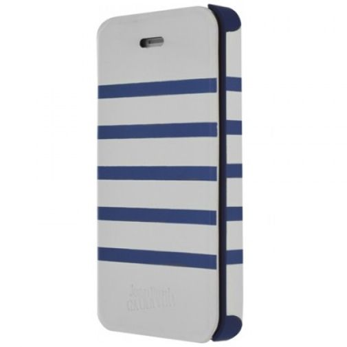 Jean Paul Gaultier Flip Case Apple iPhone 5/5S White/Blue