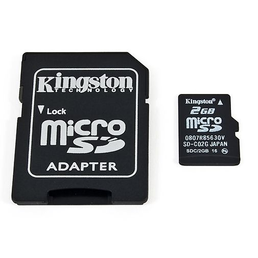 Kingston microSD 2GB + adapter