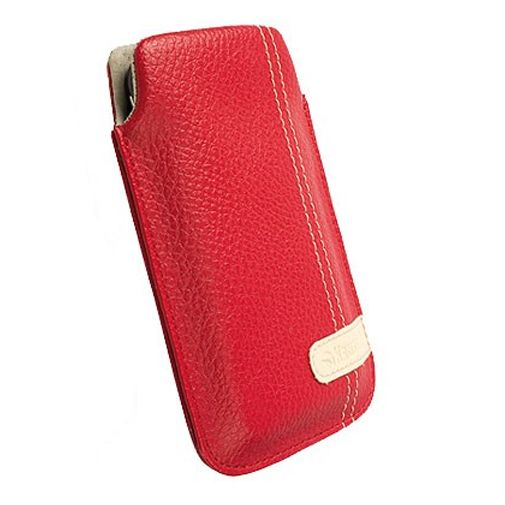 Krusell Gaia Mobile Pouch M Red Leather