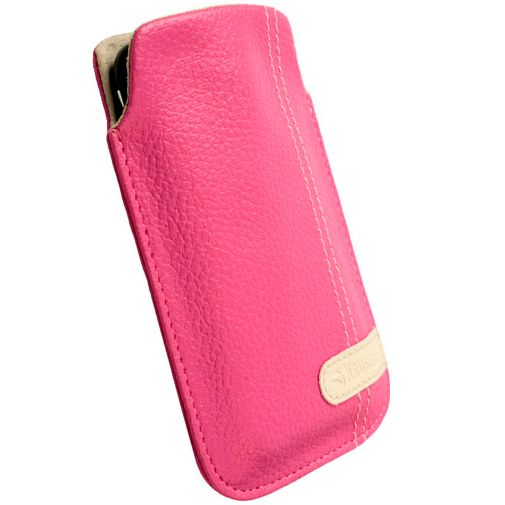 Krusell Gaia Mobile Pouch M Pink Leather