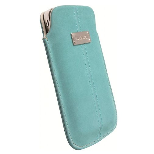 Productafbeelding van de Krusell Luna Pouch Nubuck Turquoise Large