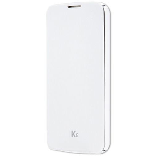 LG Flip Case White LG K8
