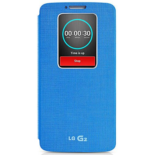LG G2 Quick Window Flip Cover Blue