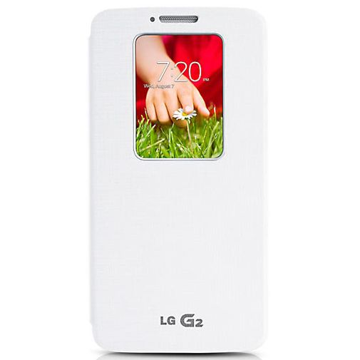 Productafbeelding van de LG G2 Quick Window Flip Cover White