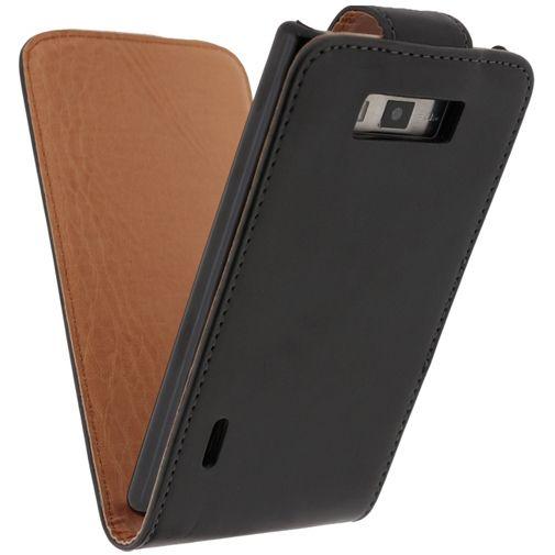 Productafbeelding van de Xccess Leather Flip Case Black LG Optimus L7 P700