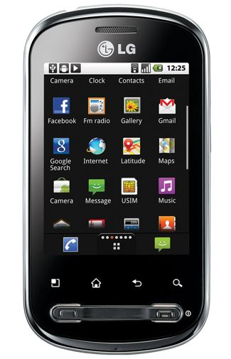 LG P350 Optimus Me Black
