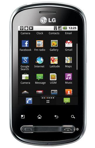 LG P350 Optimus Me Silver