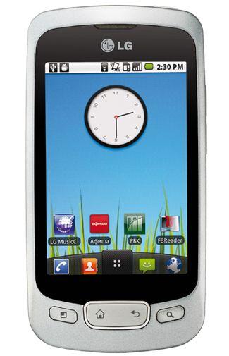 LG P500 Optimus One Silver Chrome