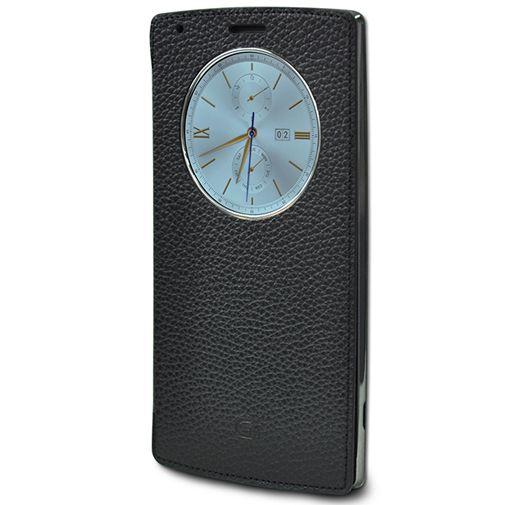LG Quick Circle Case Leather Black LG G4