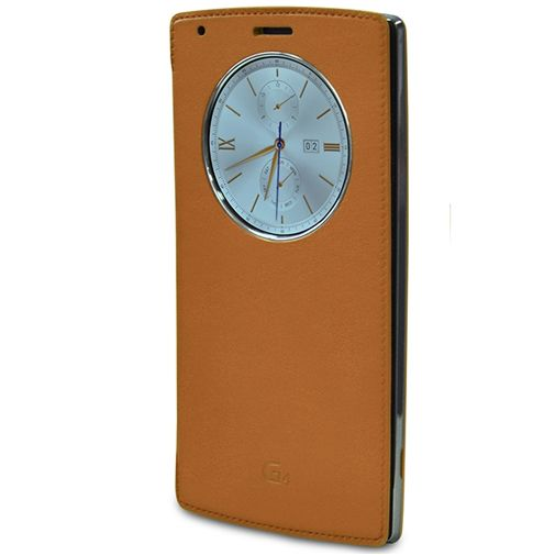 LG Quick Circle Case Leather Brown LG G4
